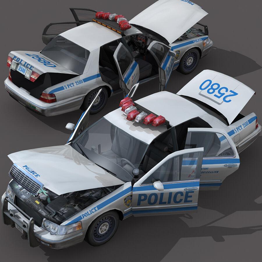 Auto della polizia di New York City royalty-free 3d model - Preview no. 3