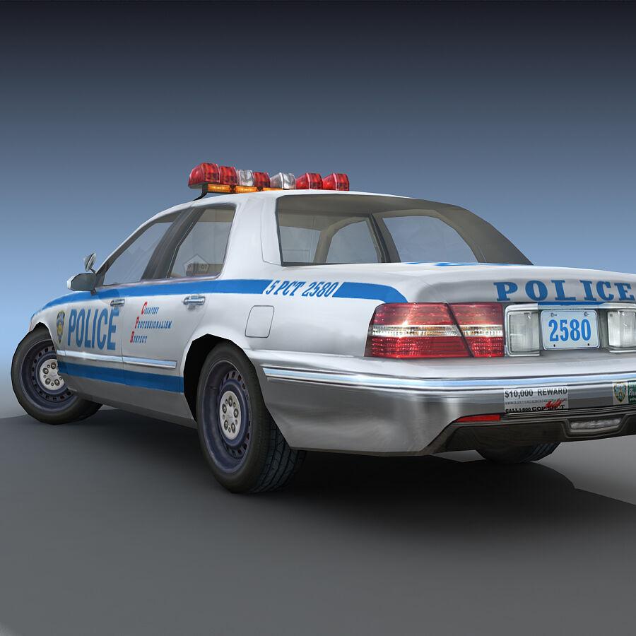 Auto della polizia di New York City royalty-free 3d model - Preview no. 24