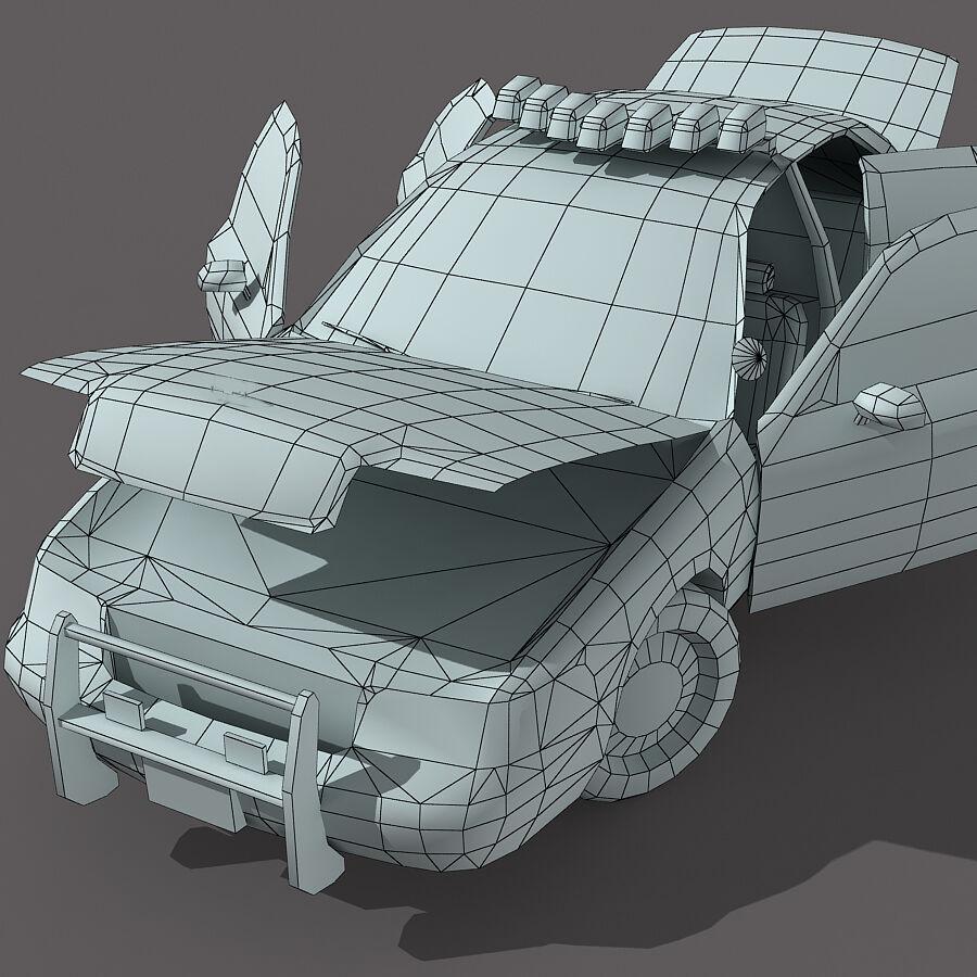 Auto della polizia di New York City royalty-free 3d model - Preview no. 5