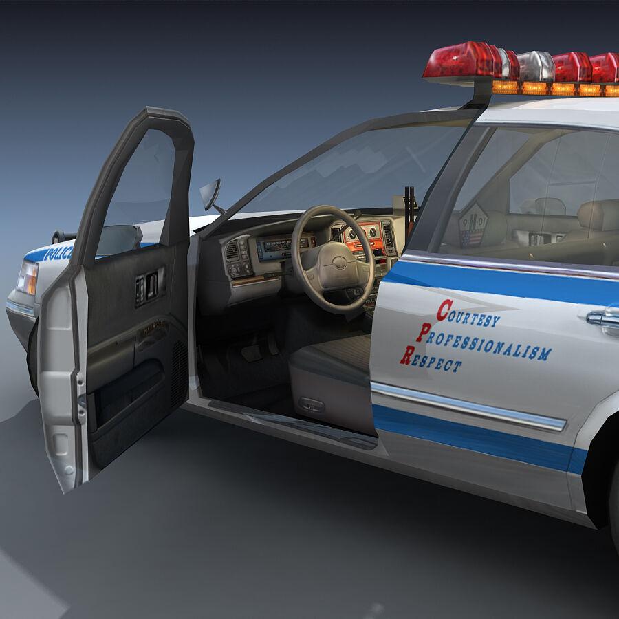 Auto della polizia di New York City royalty-free 3d model - Preview no. 11