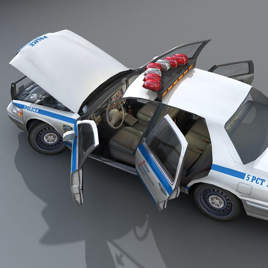 Auto della polizia di New York City royalty-free 3d model - Preview no. 25
