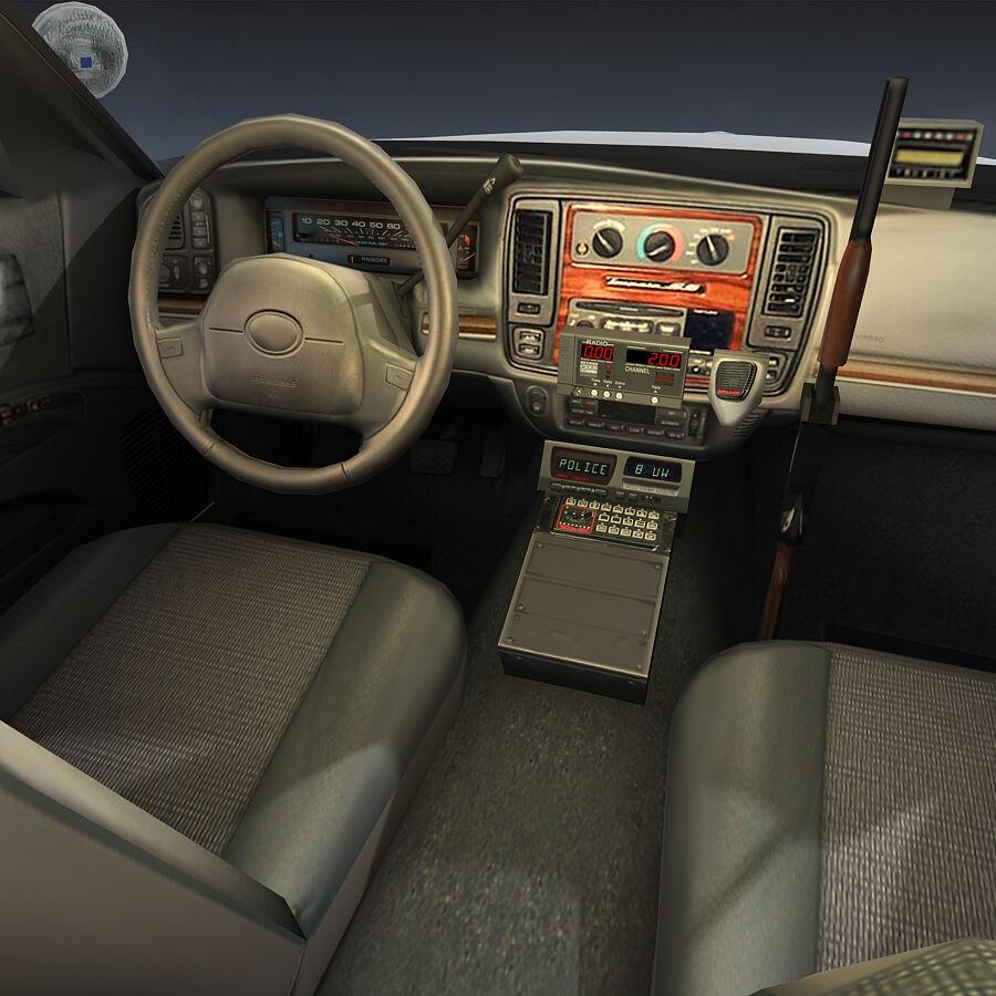 Auto della polizia di New York City royalty-free 3d model - Preview no. 17