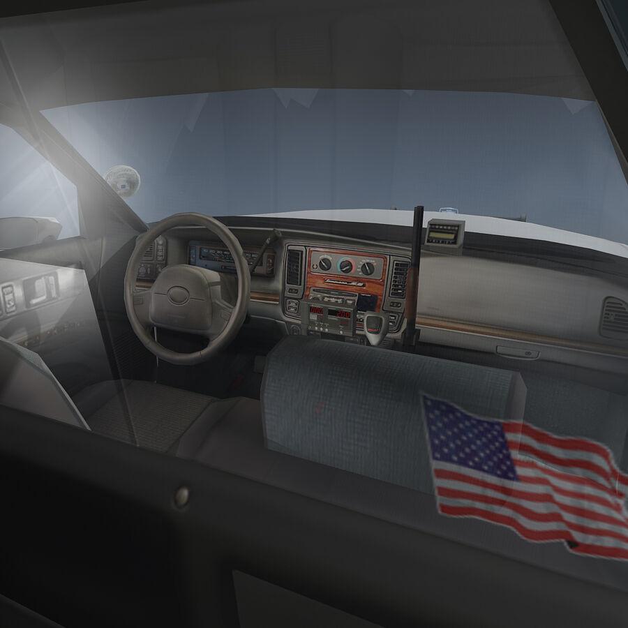 Auto della polizia di New York City royalty-free 3d model - Preview no. 13