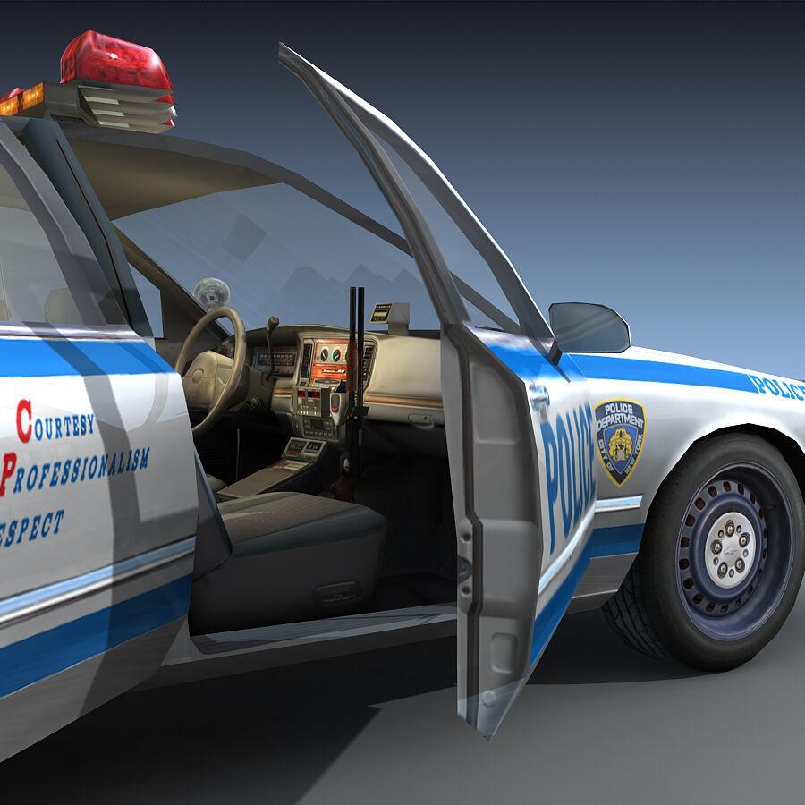Auto della polizia di New York City royalty-free 3d model - Preview no. 20