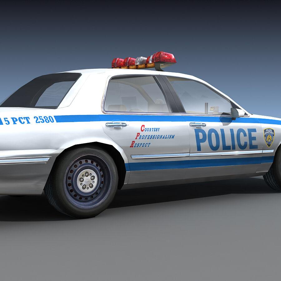 Auto della polizia di New York City royalty-free 3d model - Preview no. 22