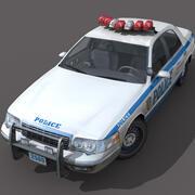 New York City polisbil 3d model