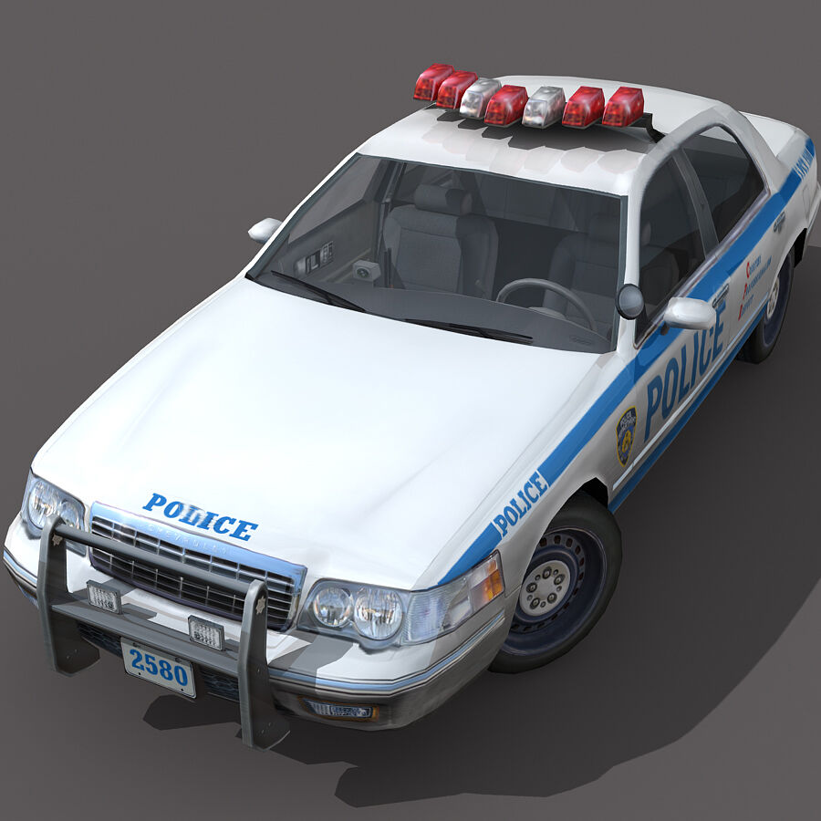 Auto della polizia di New York City royalty-free 3d model - Preview no. 1