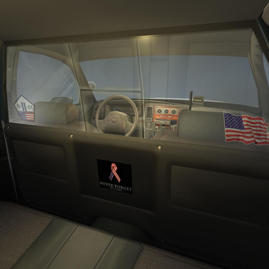 Auto della polizia di New York City royalty-free 3d model - Preview no. 16