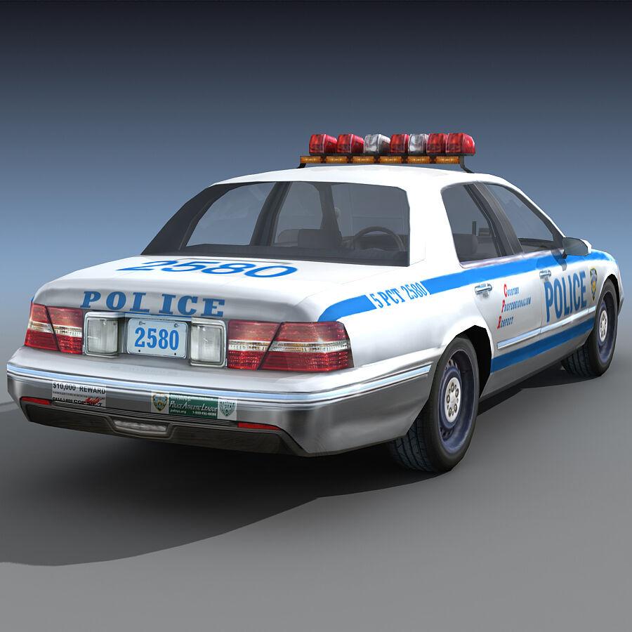 Auto della polizia di New York City royalty-free 3d model - Preview no. 9