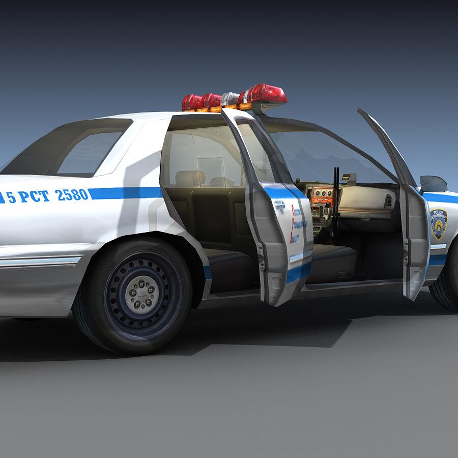 Auto della polizia di New York City royalty-free 3d model - Preview no. 21