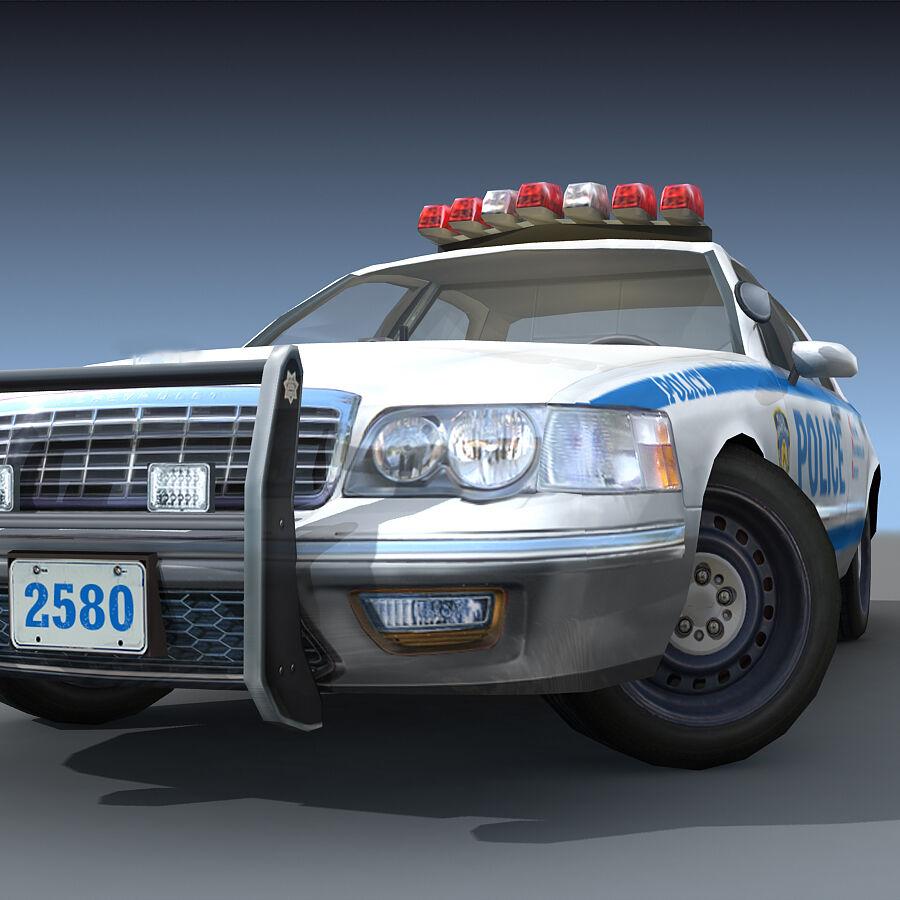 Auto della polizia di New York City royalty-free 3d model - Preview no. 26