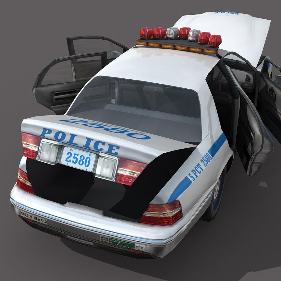 Auto della polizia di New York City royalty-free 3d model - Preview no. 8