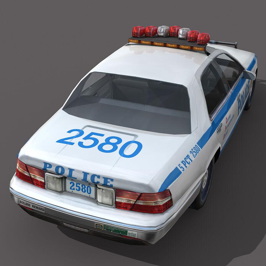 Auto della polizia di New York City royalty-free 3d model - Preview no. 7