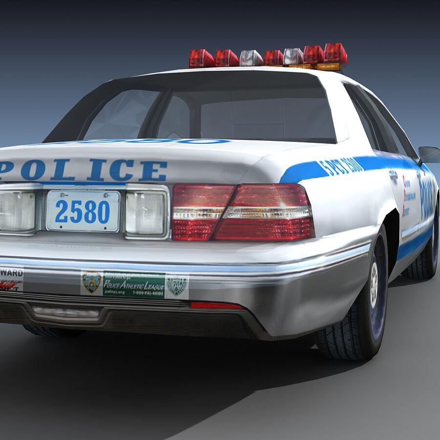 Auto della polizia di New York City royalty-free 3d model - Preview no. 23