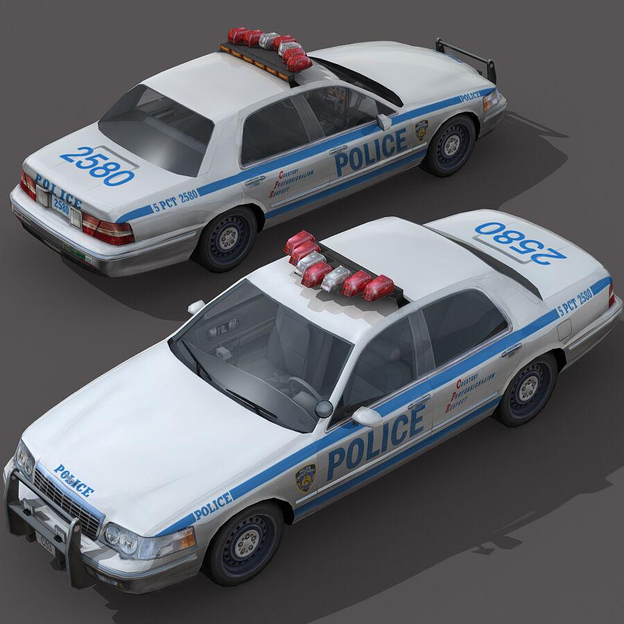 Auto della polizia di New York City royalty-free 3d model - Preview no. 2