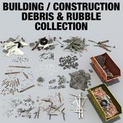 Recolección de escombros / escombros de construcción modelo 3d