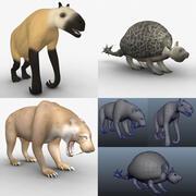 Pacchetto modello animale dell'era cenozoica 3d model