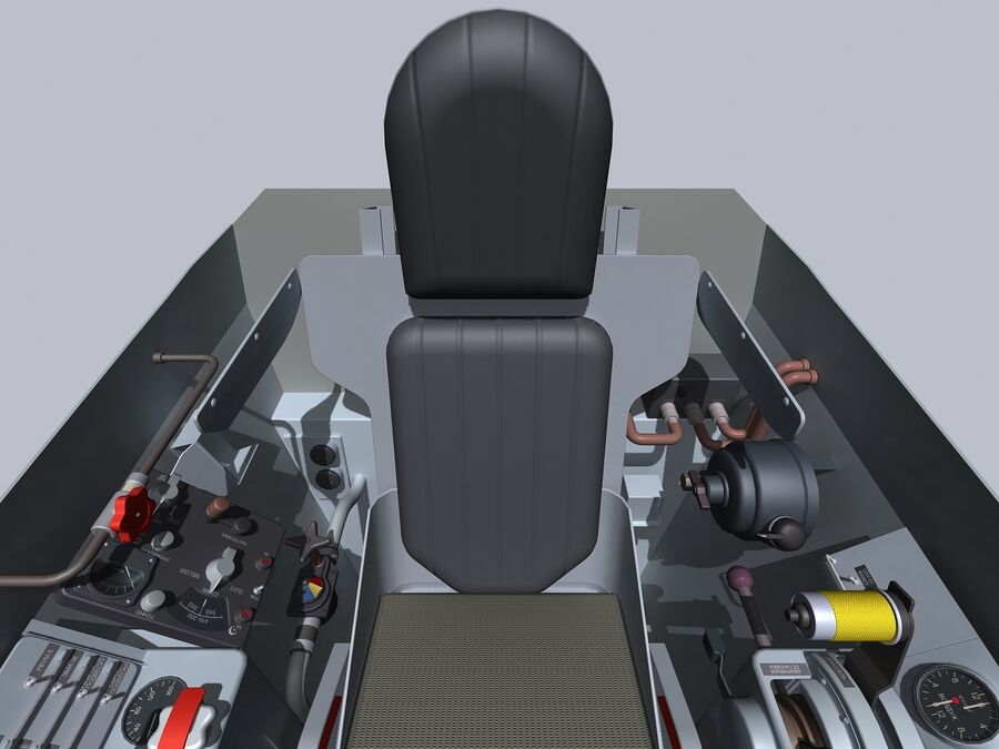 Cockpit do MiG-15. royalty-free 3d model - Preview no. 6