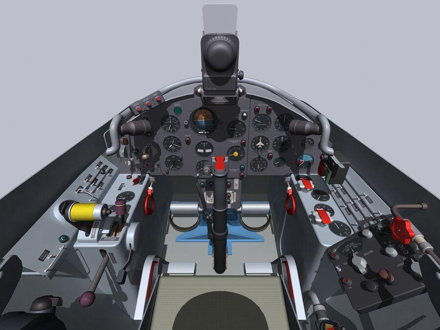 Cockpit do MiG-15. royalty-free 3d model - Preview no. 3