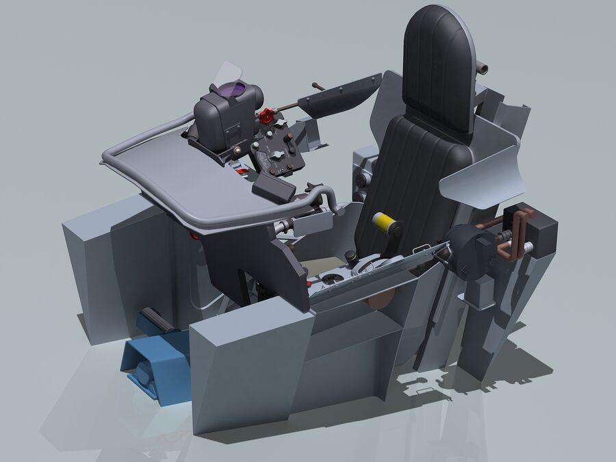 Cockpit do MiG-15. royalty-free 3d model - Preview no. 1