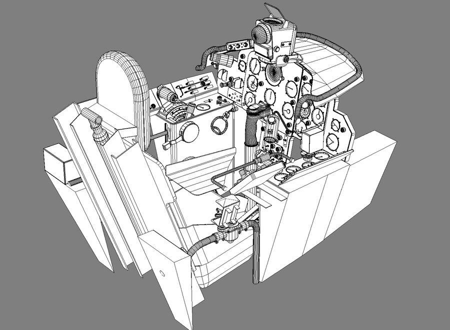 Cockpit do MiG-15. royalty-free 3d model - Preview no. 10
