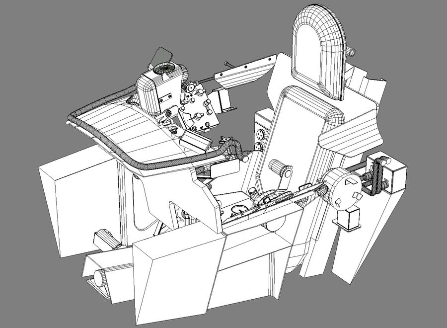 Cockpit do MiG-15. royalty-free 3d model - Preview no. 9
