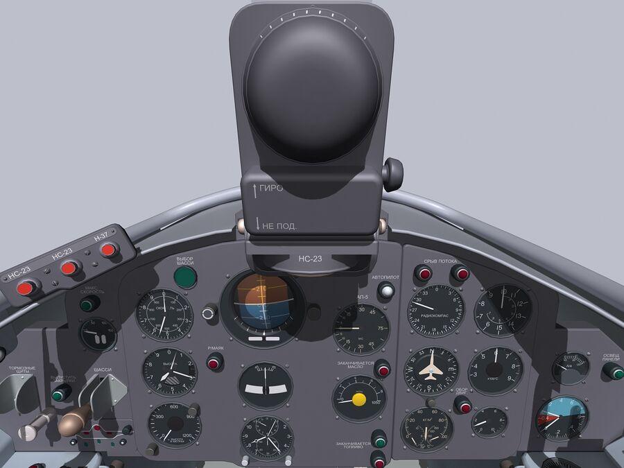 Cockpit do MiG-15. royalty-free 3d model - Preview no. 4