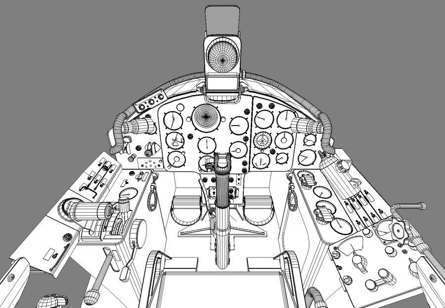 Cockpit do MiG-15. royalty-free 3d model - Preview no. 11
