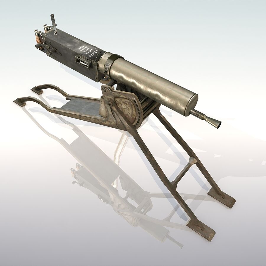 MG 08 Maschinengewehr 08 royalty-free 3d model - Preview no. 5