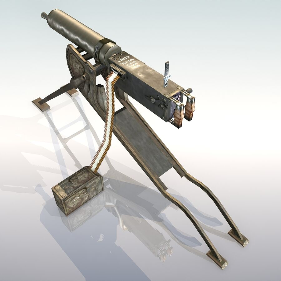 MG 08 Maschinengewehr 08 royalty-free 3d model - Preview no. 8