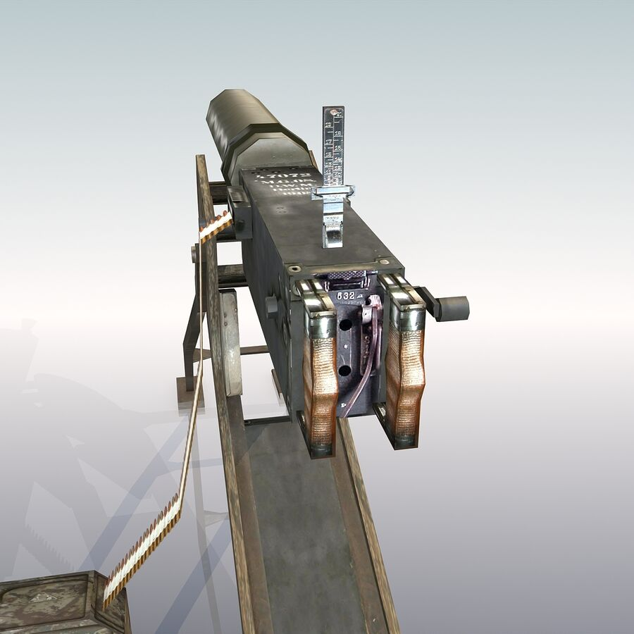 MG 08 Maschinengewehr 08 royalty-free 3d model - Preview no. 10