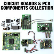 电路板和PCB组件集合 3d model