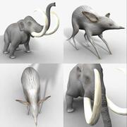 Cenezoic Era Rigged Animal Pack 3d model