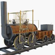 1825 Locomotion Steam Train Locomotive 3d model