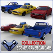 美国汽车包01 3d model