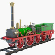 Locomotive à vapeur Adler 1835 3d model