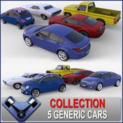 Общая коллекция автомобилей 01 3d model