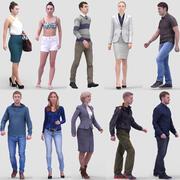 3D Human Model Vol. 2 Walking People 3d model