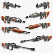 Set fucili fantascientifici 06 3d model