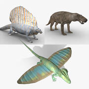 Permian Era Rigged Animal Pack 3d model