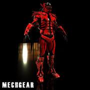 Personaje Mech futurista modelo 3d