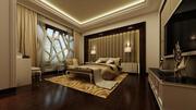 Innenarchitektur Hauptschlafzimmer 3d model