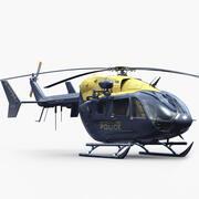 유로콥터 EC 145 경찰 3d model