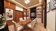 diseño de interiores de reuniones de oficina modelo 3d