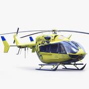 유로콥터 EC 145 응급 헬리콥터 3d model