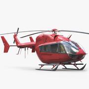 유로콥터 EC 145 비즈니스 헬리콥터 3d model