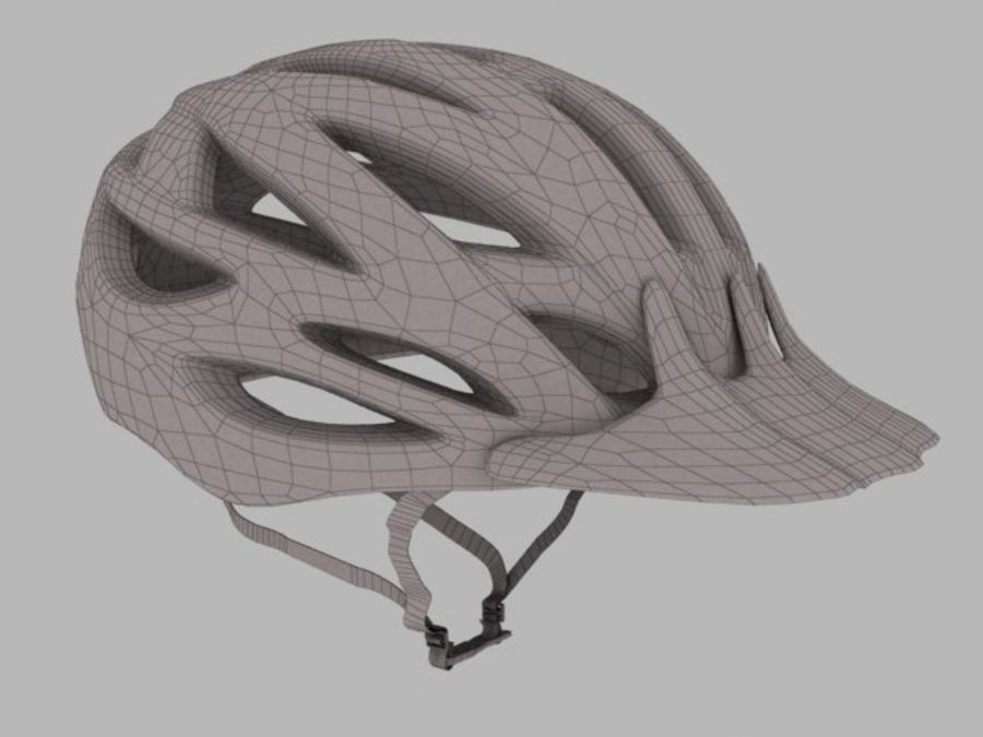 bike helmet 3 royalty-free 3d model - Preview no. 2