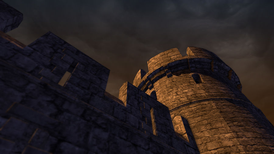Modular Round Castle Towers Creation Set royalty-free 3d model - Preview no. 42