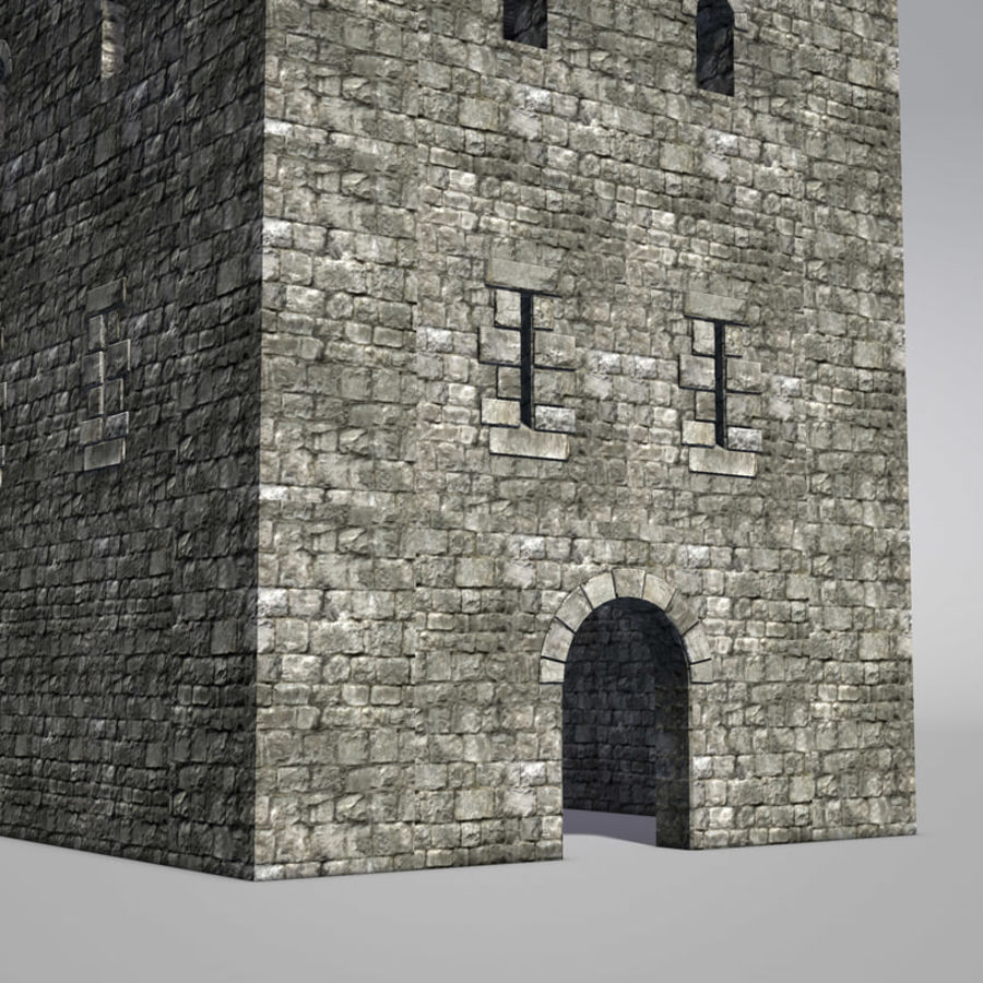 Modular Round Castle Towers Creation Set royalty-free 3d model - Preview no. 22