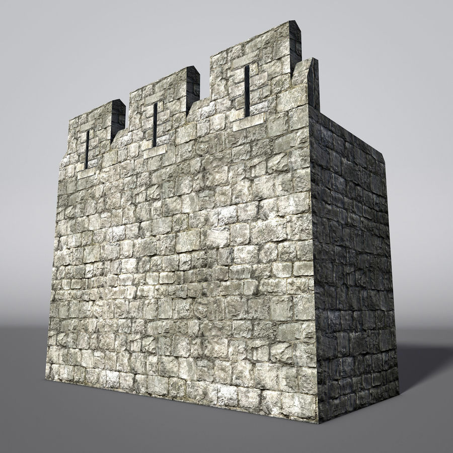 Modular Round Castle Towers Creation Set royalty-free 3d model - Preview no. 18